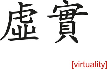 Chinese Sign for virtuality