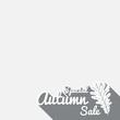 Big autumn sale sign, grey poster, vector illustration