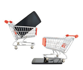 Phone and shopping cart