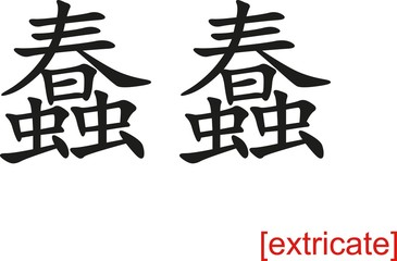 Chinese Sign for extricate