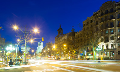 Night view of Barcelona