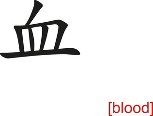 Chinese Sign for blood