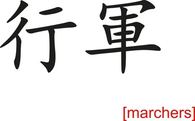 Chinese Sign for marchers
