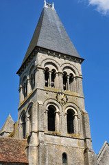 Ile de France, the historical church of  Morienval