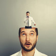 businessman with open head