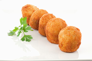 Buñuelos de bacalao fritos