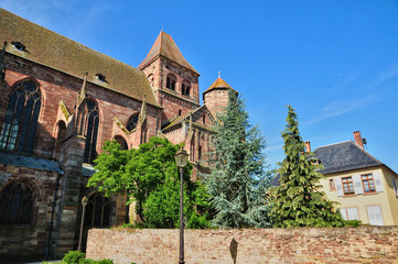 alsace, the picturesque village of Marmoutier