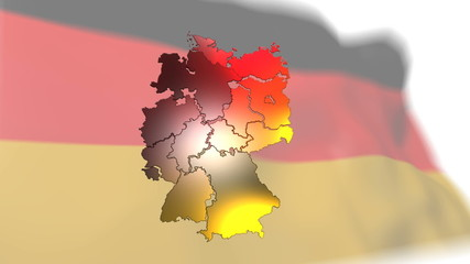 Germany map flag