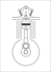 ottomotor - technische illustration