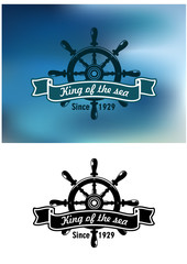 King Of The Sea marine emblem or badge