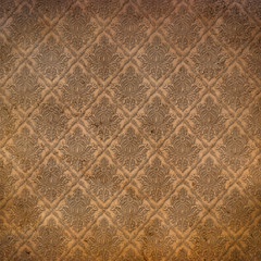 Grunge paper with retro pattern