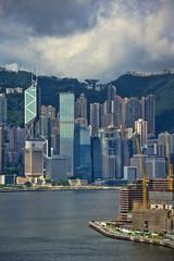 香港ビクトリア湾の風景