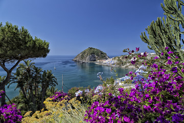 View of SantAngelo in Ischia Island