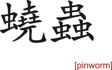 Chinese Sign for pinworm