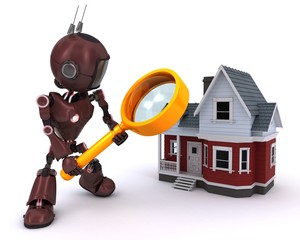 Robot searching for a house
