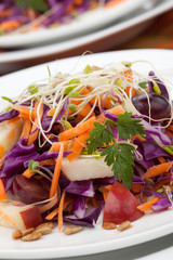 Cabbage, Carrot, And Apple Salad