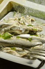 Alici marinate Cucina italiana Italian cuisine Italienska köket