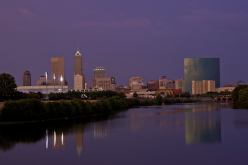 Indianapolis Indiana Night Sunset Blue Hour