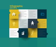 squares illustration for infographic template