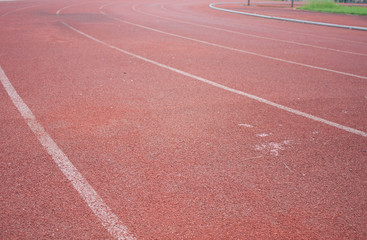 Red Asphalt for runners.