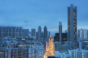 Hong Kong City at Dusk