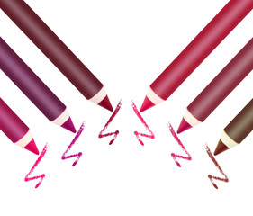 Different colors of lip liner