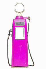 Pink retro gasoline pump