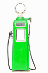 Green retro gasoline pump