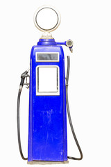 Blue retro gasoline pump