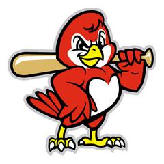 baseball bird mascot