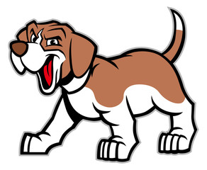 cartoon of beagle dog