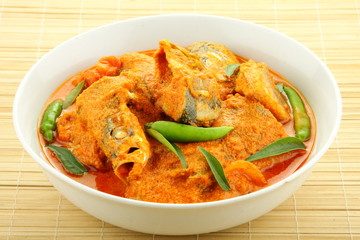 Fish curry.Asian cuisine.