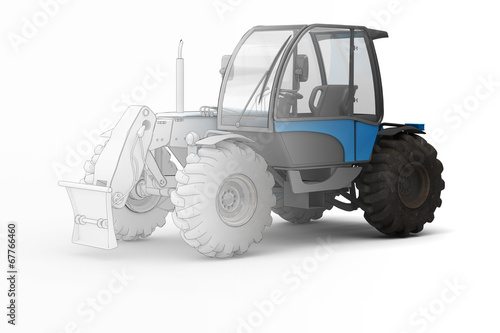 canvas print picture Industry Tractor - mix