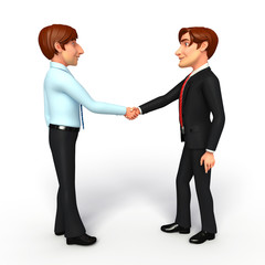 Business Man and service man with shake hand