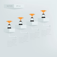 Business plan with the trophy.vector