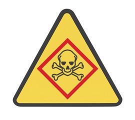 panneau danger, poison, tête de mort