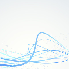 Blue abstract swoosh lines particle background