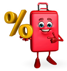 Travelling bag Chatacter with Percentage