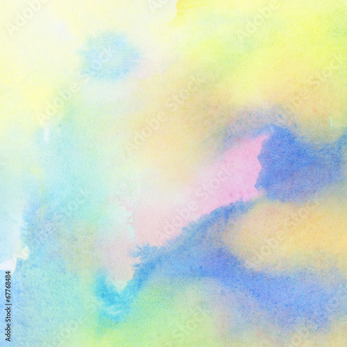Abstract colorful watercolor painted background © flas100