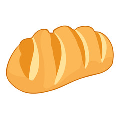 Bread in Basket isolated illustration