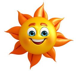 Sun Character is happy