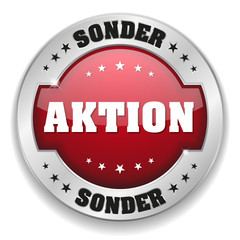 Roter Sonder Aktion Button