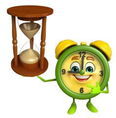Table clock character with sand clock