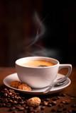 eine Tasse heißer Kaffee