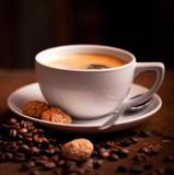 frischer Kaffee und Kekse