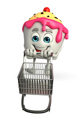 Ice Cream character with trolley