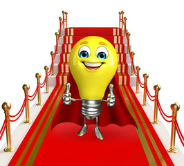 Light Bulb Character with carpet