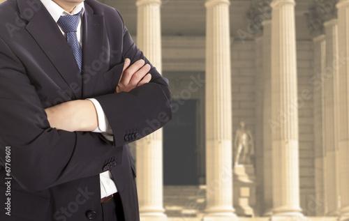 Leinwanddruck Bild Lawyer