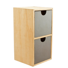 Wooden cabinet with 2 drawers