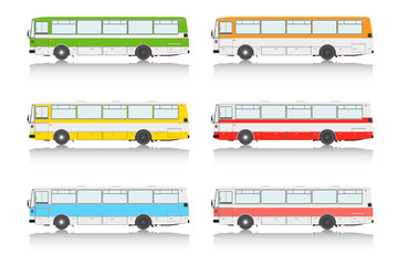 Set bus on a white background.